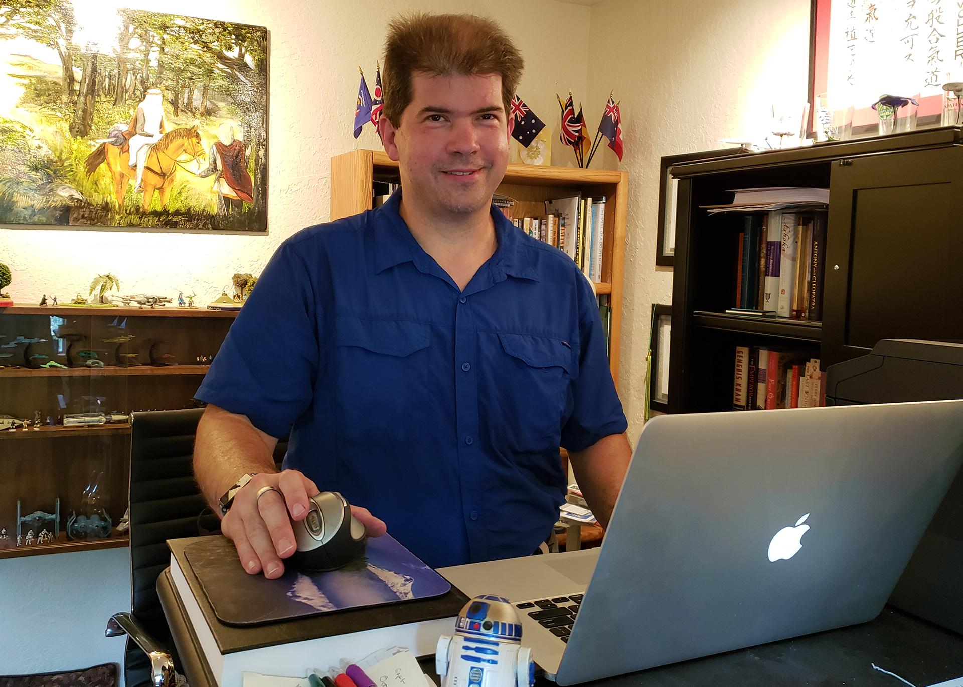 Edwin Wollert in the office